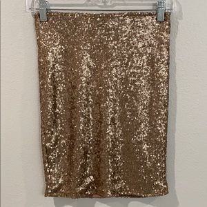 Gold sequin pencil skirt size XS